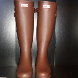 Hunter Refined Back Strap rubber boots Tall